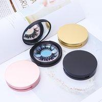 Wimpernverpackung Kreisbox mit Spiegel Wimpern Aufbewahrungsbox Leer Wimpernetui Für Frauen Mädchen Make-up
