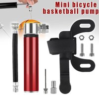 Bike Pumps Ly 1 Set Mini Bicycle Pump Portable Aluminum Alloy Basketball Soccer Ball Air Tire Gas Needle Inflator S66