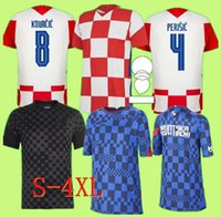 S-4XL 2021 2022 Futbol Forması Mandzukic Modric Chemise Kramaric De Futbol 21 22 PERISIC Kalinic Rakitic Kovacic Hommes Maillot Pied Kit Pour Les Enfants