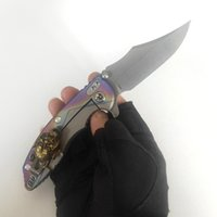 Limited Custom Version XM-18 Folding Knives Personality Fashion Titanium Handle Sharp M390 Knife Perfect Pocket EDC Outdoor Equipment Tactical Camping Tools