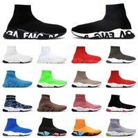 2021 zapatos de calcetines entrenadores para hombre para mujer velocidad de deporte zapatillas de deporte negro blanco triple beige hombres diseñador de moda plana zapato casual jogging caminar