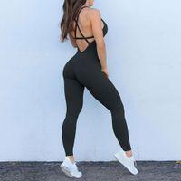 Fitness Frauen Sport Anzug Jumpsuit Sexy Sleeveless Trainingsanzug Yoga Set Backless Fitnessstudio Lauf Sportswear Leggings Frau Workout Anzug