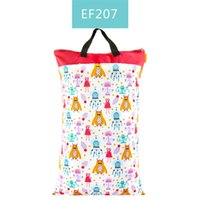 Happy flute 1 pcs Large Hanging Wet Dry Pail Bag for Cloth Diaper,Inserts,Nappy, Laundry With Two Zippered Waterproof,Reusable 882 X2