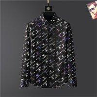 2021 Летний Роскошный Дизайнер Мужской Бизнес Повседневная Рубашка С Длинным Рукавом Нашивка Лямп Рубашки Мужской Социальная Мода Плед M-3XL # AP376