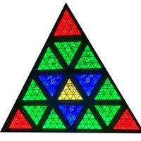 مثلث الصمام مصفوفة 16x30 واط 572 * 0.2 واط rgbw خلفية ستروب بليندر ديسكو دي جي حزب المرحلة الإضاءة