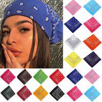 17km Bohemian Print Bandana Bands per ragazze Donne Bambini Unisex Sciarpa Square Sciarpa Turban Fascia per capelli Accessori