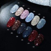 Nail Gel 2021 10ml Glitter Polish Art Decoration Crystal Diamond Powder Silver Soak Off UV