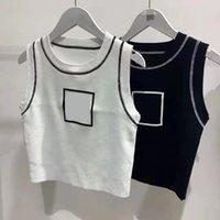 T-Shirt Damen Top Tank Marke Baumwolle sexy gestickte Camisole Brief Kurzarm Nabel eng