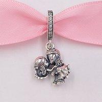 Akirajewel 925 perline in argento sterling 925 coppia sposata ciondolo fascino fascino adatti collana di braccialetti di gioielli in stile Pandora europeo 798896C01