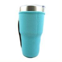 Cor sólida reutilizável gelo copo de café manga manga neoprene isolado garrafa de água caneca titular caso bolsa bolsa para 30oz 32oz gwf7259