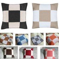 Caso de travesseiro de lã cobre casca quadrada decorativa capa de almofada macia para sofá sofá cadeira cama quarto lance casa decoração pelúcia short hh21-230