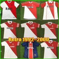 Retro Monaco Fussball Jersey 90 91 92 93 94 95 96 97 98 99 2000 Vintage Classic Paris Football Hemden MAILLOT DE FOUT MEN MÄNNER KIT-Uniformen