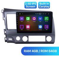 Android 10.0 DSP 4G Car DVD Radio DVD GPS Navigation Stéréo Unité STEREO JOUEUR POUR 2006-2011 HONDA CIVIQUE Main gauche Conduite avec carton