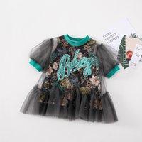 Babyinstar vestidos de moda para crianças vestido de fantasia para a princesa festa vestido moda menina rufa tutu roupas bebê para crianças t200709