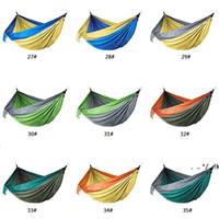 NEUE106 * 55 zoll im freien parachute tuch hängematte faltbare feld camping swing hängende bett nylon hängematten mit seilen karabinern ewf6325