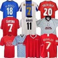 레트로 유나이티드 1977 2002 축구 유니폼 맨 축구 Giggs Scholes Beckham Ronaldo Cantona Solskjaer Manchester 07 08 93 94 96 97 98 99 86 88 90 91