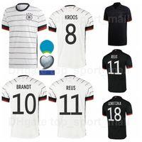 Europa Cup National Team Soccer Germany Jersey Black White 9 Volland 6 Kimmich 1 Neuer 21 Gundogan 5 Hummels 14 Musiala Football Shirt Kits Euro