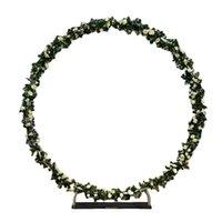 Decorazione del partito fiori rotondi sfondo bianco nero solido colore cerchio retro stand decorazioni per eventi di compleanno