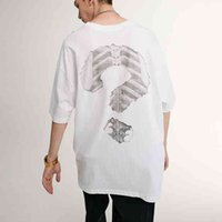 men's 2021 spring and summer new street fashion simple question mark printing loose short sleeve T-shirt