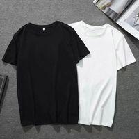 T-Shirt von Pfirsich Herz Herren, Milch Seide Rundhalsausschnitt, Kurzarm Rot Gesticktes Etikett, Hauptbild für Business, Großhandel