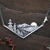 3D Горный ассортимент реки долина закат кулон ожерелье горы подарок ювелирных изделий для природных приключений