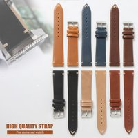 Black Watchband Genuine Leather Watchstrap for Rolexwatch For SUB 20mm Man Strap Calf Leather Brown Khaki Retro Handmade Strap