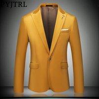 Autumn Winter Mens Quality Fashion Gold Velvet Slim Blazers Wedding Party Banquet Prom Dress Tuxedos Casual Suit Jacket Men's Suits &