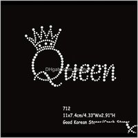 Nozioni di cucito Strumenti Abbigliamento Abbigliamento Drop Consegna 2021 36 pzlotto Fissaggio Trasferimenti strass Iron su Motif Queen Crown Lettere all'ingrosso R6DWWT