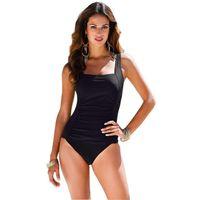 원피스 솔리드 컬러 수영복 여성의 보수적 인 백리스 수영복 플러스 사이즈 높은 웨이스트 비키니 섹시한 수영복 원피스