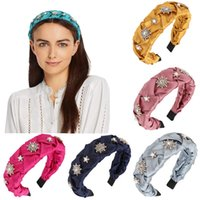 2021 Fashion strass perle Tisser les bandeaux de tissage pour femmes filles bandeau de tête accessoires de cheveux dames vinatge headwear