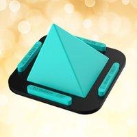 Держатели монтирования сотовых телефонов Многофункциональная пирамида поддержки силиконовой стойки для рабочего стола для смартфона (зеленый)