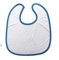 Sublimation Blank Baby Bibs Heat Transfer Handkerchief DIY Blanks Saliva Towel Polyester Cotton Newborn Burp Cloths Infant Cotton OWE7232