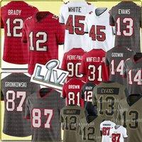 12 Tom Brady Jersey 87 Rob Gronkowski 13 Mike Evans Football Trikots 45 Devin White 14 Chris Godwin Kyle Trask Antoine Winfield Jr Antonio B RowN Jason Pierre-Paul