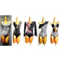 Leopard Stampato Design Patchwork e Tassel Latin Dance Bodysuit Stage Performance Dress YJZH001 Abbigliamento costume YJZH001