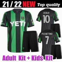 Kit Adulto e Kit Kit2021 Austin FC Futebol Jerseys Inaugurn MLS 21 22 Home Black Away Branco Dario Conca Kleber Xavier Baez personalizar camisas de futebol