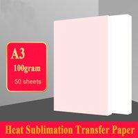 Бумажный продукт 50 листов A3 Размер сублимационной теплопередачи, 100 г, использование в одежде, футболка, чашка, подушка и т. Д.