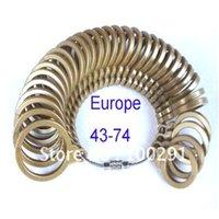Anillo de plástico Medidor dedo Sizer Medida Tallas de Dedo Tamaños Euro 43-74, Herramienta de tamaño de joyería de plástico 29 W2