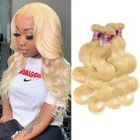 Namibeauty 613 cor loira peruana virgem cabelo corporal onda 4 piecess 100% Remy extensões de cabelo humano para mulheres negras
