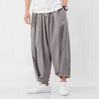 Dropshipping 2021 Hommes Pantalons Harem Mens Streetwear Fashion Coton Joggers Male Homme Vêtements Pantalons à jambes larges Bas surdimensionnés 5XL