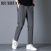 Men's Pants RUIHUO 2021 Solid Casual Men Trousers Joggers Sweatpants Hip Hop Streetwear Male Plus Size M-5XL
