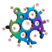 Other Hand Tools 20 in 1 tool bottle opener Kaisou turtle shape snow spanner keyring multipurposer survive outdoor Openers snowflake multi spanne hex wrench 6R1V