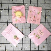 Gift Wrap Machine Heat Seal Package Bags DIY Baking Plastic Packaging Pouch Snack Matte Clear Biscuit Cookies Candy Pack Bag