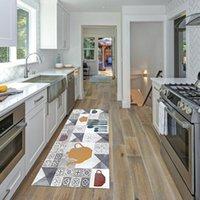 Carpets Non-slip Kitchen Carpet Floor Mat Polyester Home Living Room Doormat Rug Wrinkle-Resistant Decor