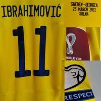Ev Tekstili İsveç Ibrahimovic Maillot ile Oyun Maçı Detaylar Tüm Tam Sponsor Futbol Yama