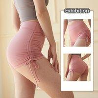 2021 패션 럭셔리 요가 바지 솔리드 컬러 여성 스포츠 바지 피부 반바지 높은 허리 엉덩이 리프팅 피트니스 탄성 스타킹
