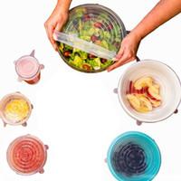 식품 보호기 저장 용기 실리콘 신선한 랩 그릇 커버 공기 꽉 진공 뚜껑 접시 세트 탄성 씰 주방 액세서리