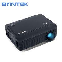 Byintek K18 Mini LED 1920x1080 Full HD 1080P Portable Juego LCD proyector LCD (opcional Android 10 TV Box para Smartphone) 210609