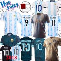 Arjantin Futbol Forması 2021 Messi Maradona Dybala di Maria Kun Aguero Copa Amerika Futbol Gömlek Erkekler + Çocuk Kiti Üniformaları 20 21 Hatıra