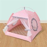 사계절 통화 개 주택 작은 개 테디 침대 접는 텐트 둥지 여름 휴대용 애완 동물 fwf10259