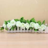 50pcs DHL free 245cm Wedding decoration Artificial Fake Silk Rose Vine Hanging Garland Wedding Home Decorative Flowers & Wreaths 614 R2